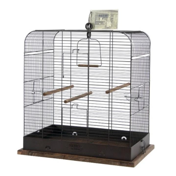 Zolux Retro Madeleine Bird Cage Black