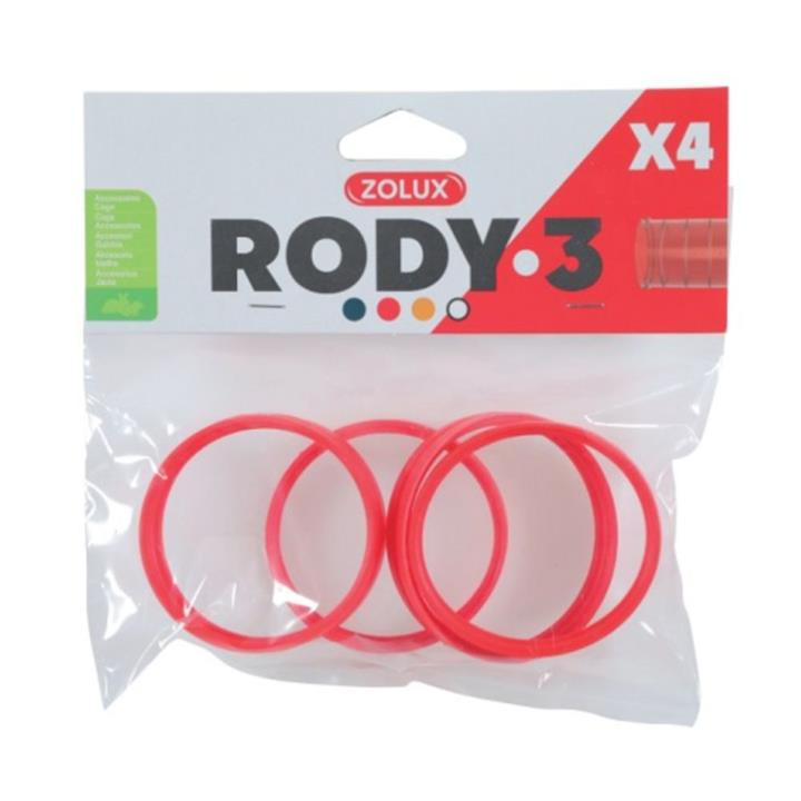 Zolux Rody 3 Accessories Connecting Ring Grenadine 4 Pack