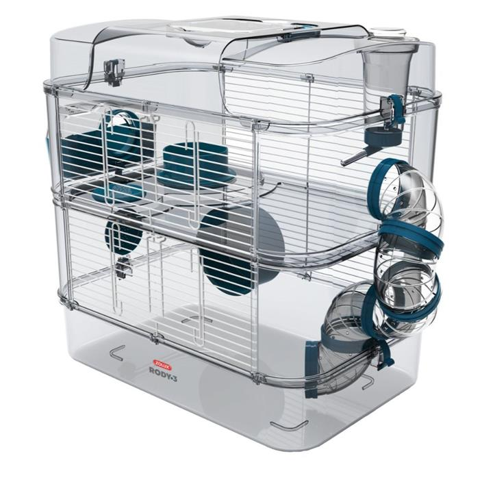 Zolux Rody 3 Small Animal Cage Duo Blue