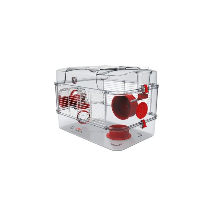 Zolux Rody 3 Small Animal Cage Solo Red