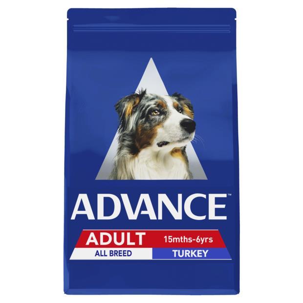 Advance Adult All Breed Dry Dog Food Turkey 2 X 15kg