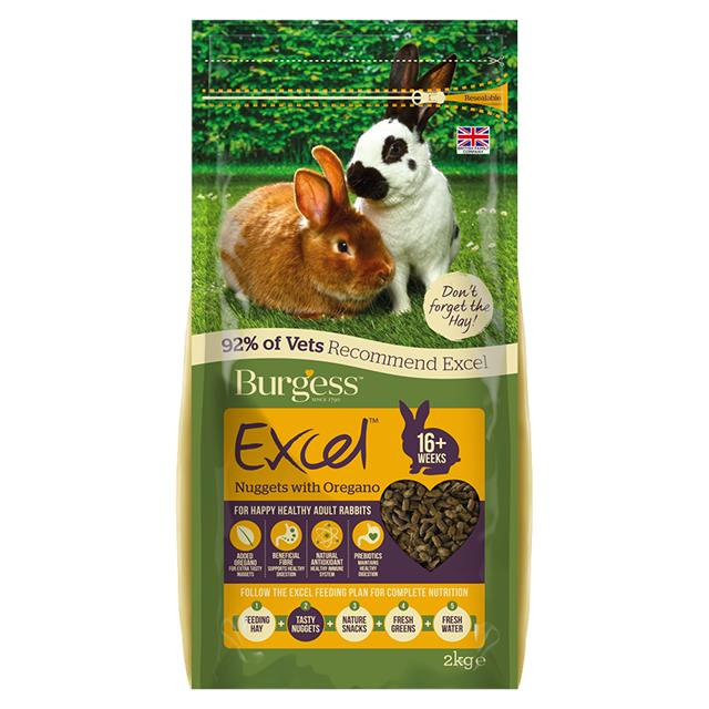 Burgess Excel Rabbit Nuggets Oregano 2kg