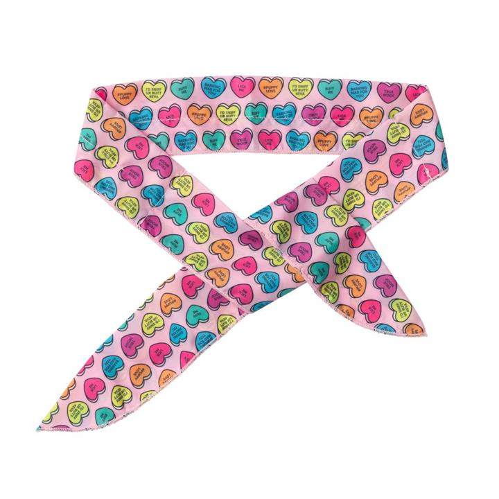 FuzzYard Candy Hearts Dog Cooling Bandana