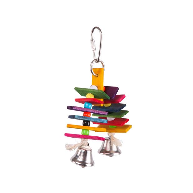 Kazoo Bird Toy With Arch Chips And Bells Small