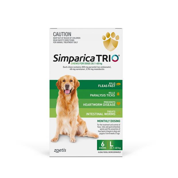Simparica Trio Large 2 X 6 Pack